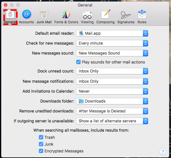 Cloud DataWorks » Changing Email check frequency in mail client
